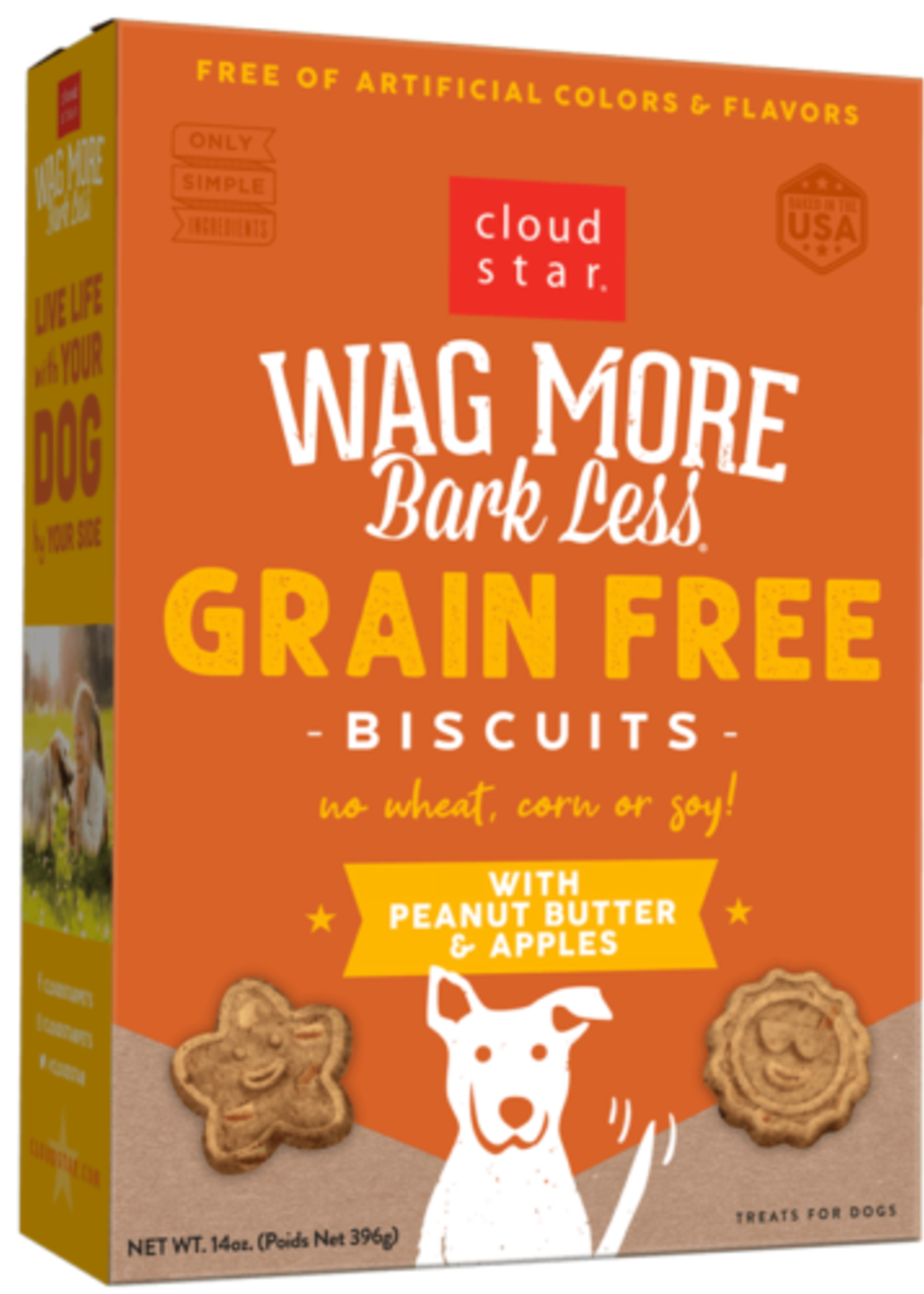 Cloud Star CloudStar Wag More Bark Less Peanut Butter Biscuits 16 oz