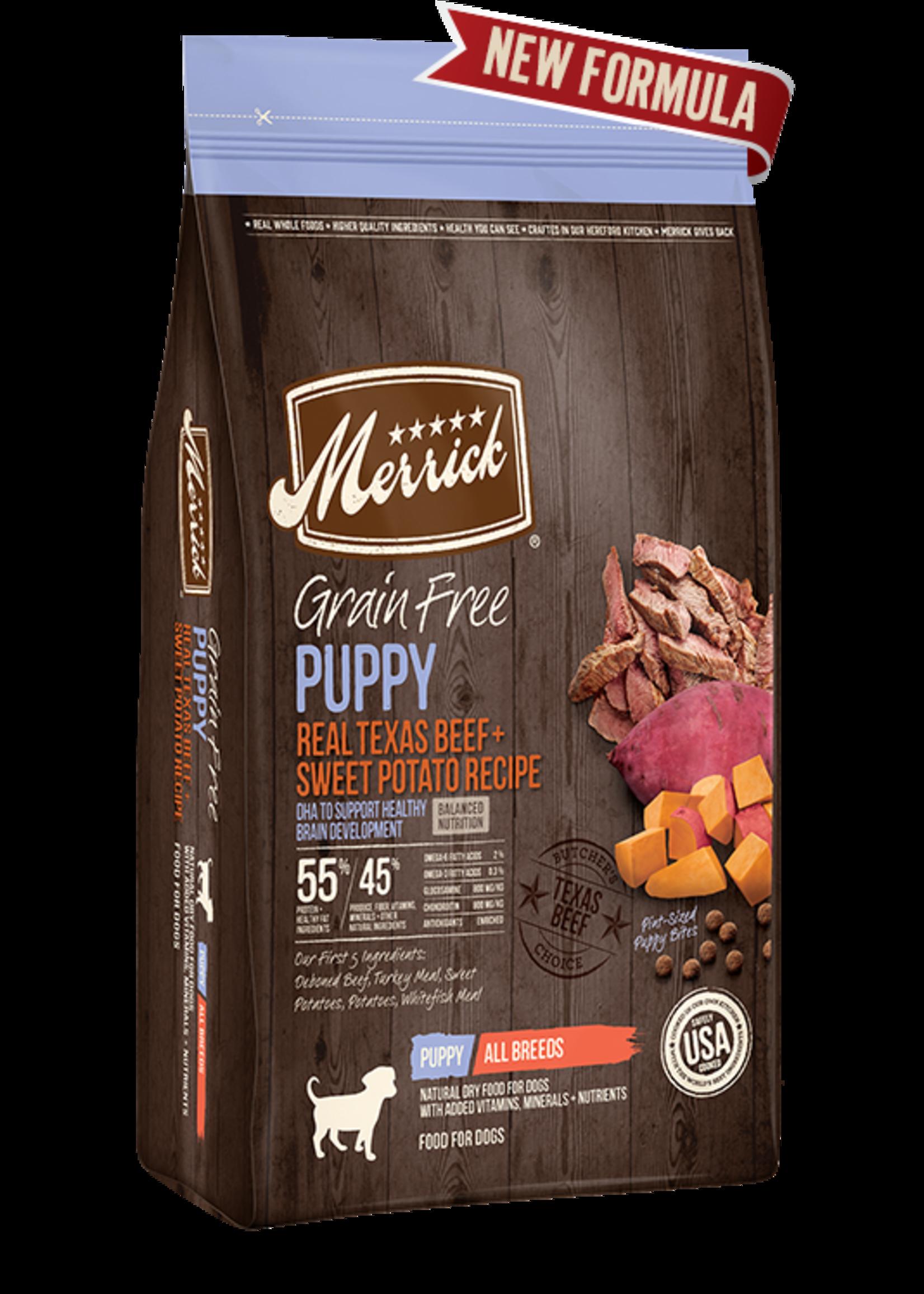 Merrick Merrick Grain Free Puppy Beef 4 lb