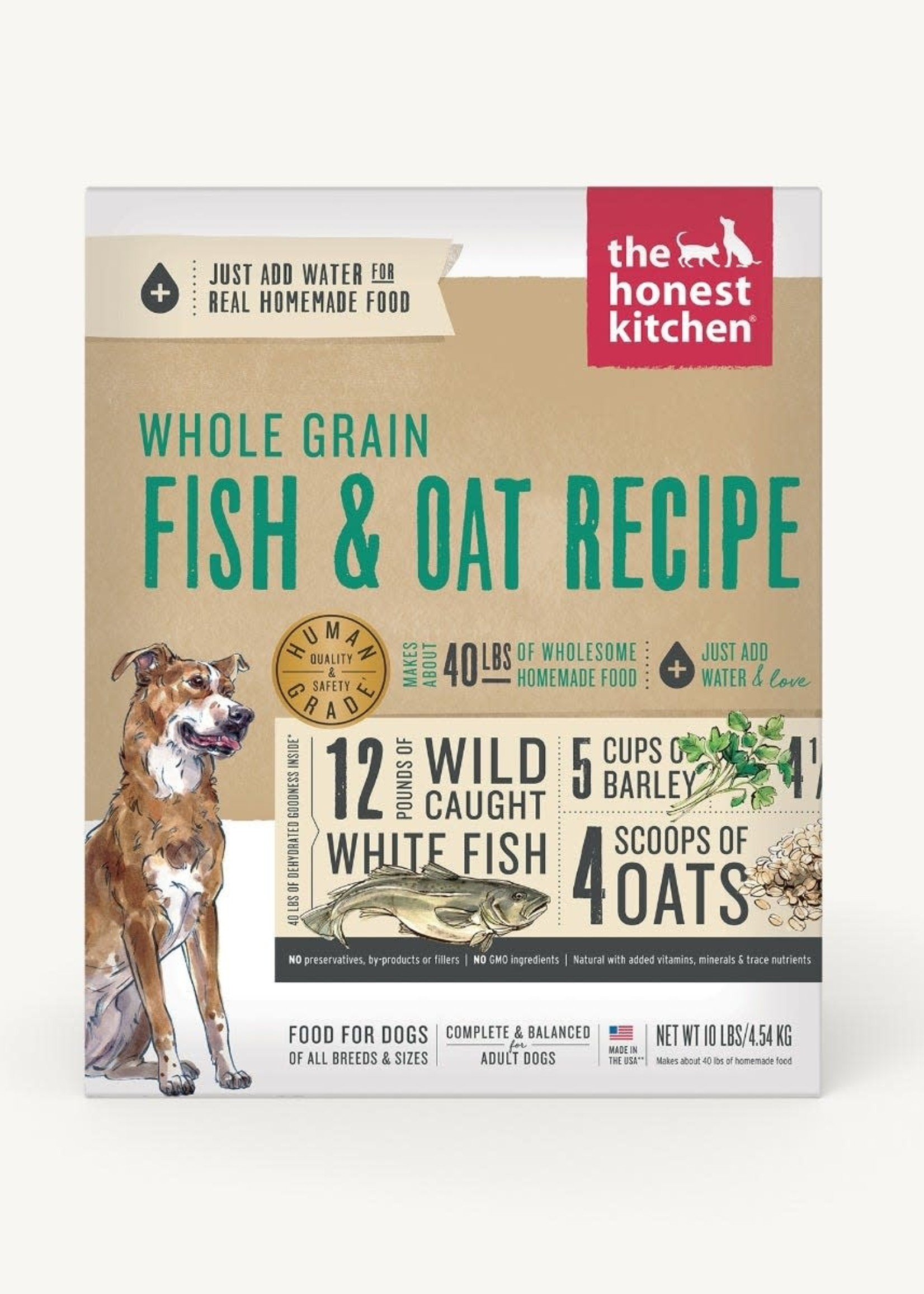 The Honest Kitchen Honest Kitchen Whole Grain Fish & Oat 10lb Dehydrated Dog Food