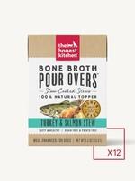 The Honest Kitchen The Honest Kitchen Bone Broth Pour Over Turkey & Salmon Stew 12 x 5.5oz
