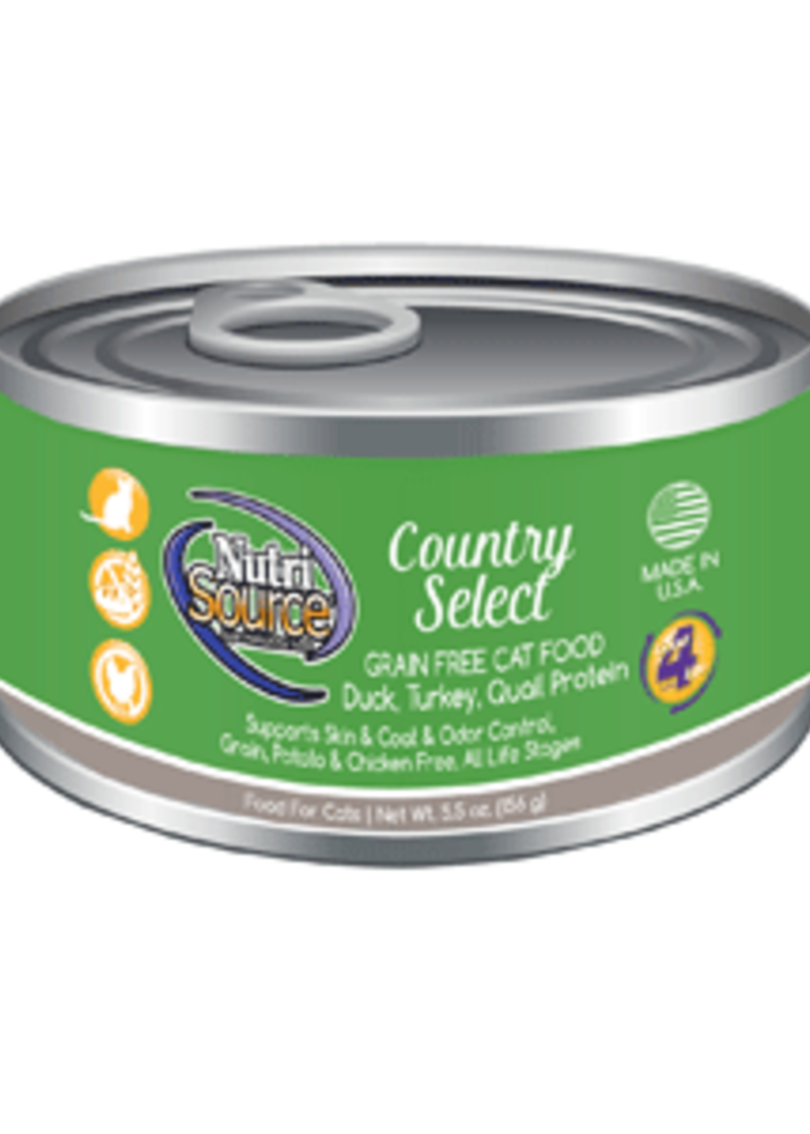 Nutrisource NutriSource Grain-Free Country Select Wet Cat Food 5.5oz