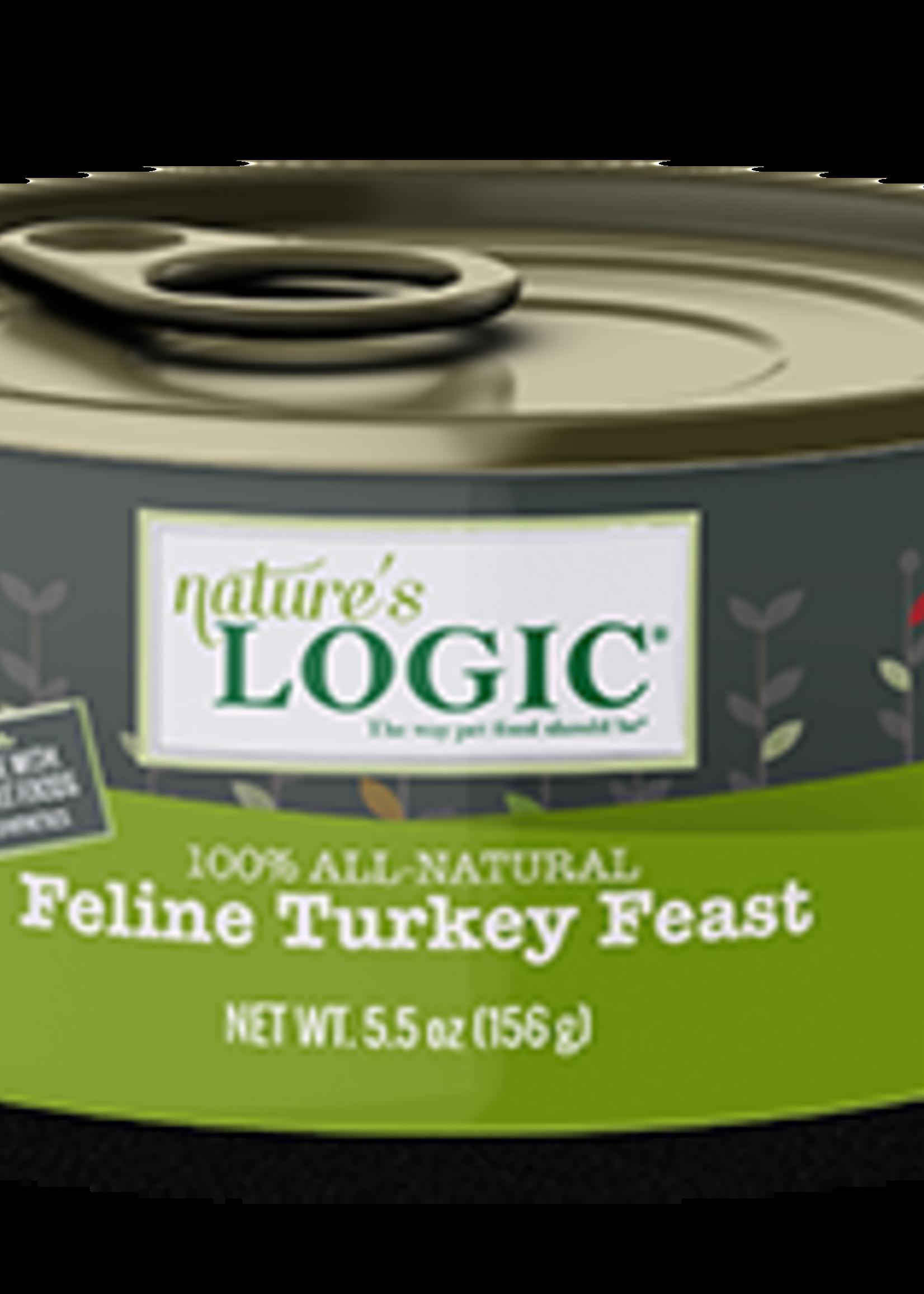 Nature's Logic Nature's Logic Turkey 5.5oz Wet Cat Food Case