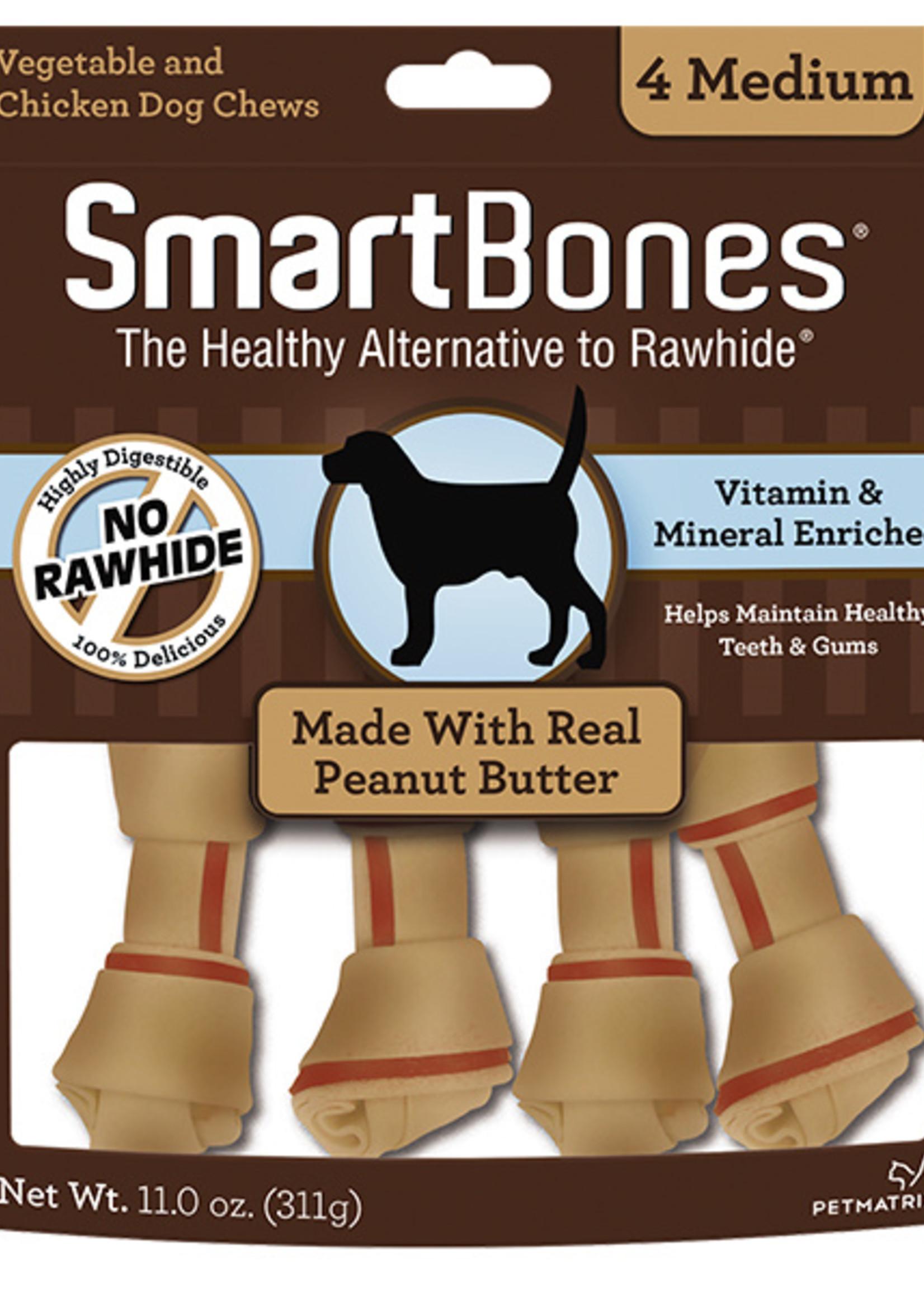 SmartBones Smartbones Peanut Butter 4 Med