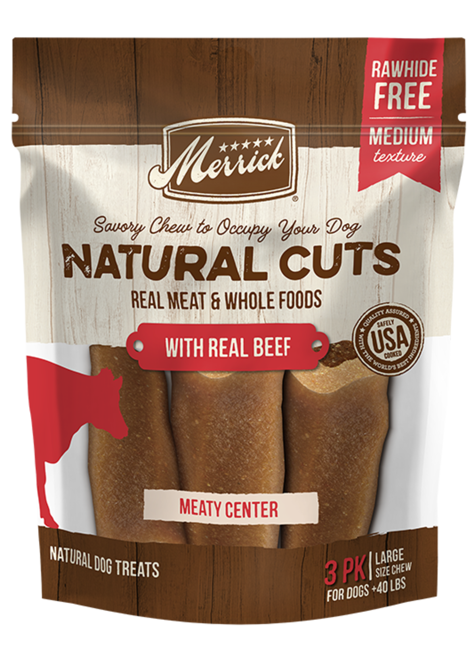 Merrick Merrick Natural Cuts w/ Beef Large 3 PK