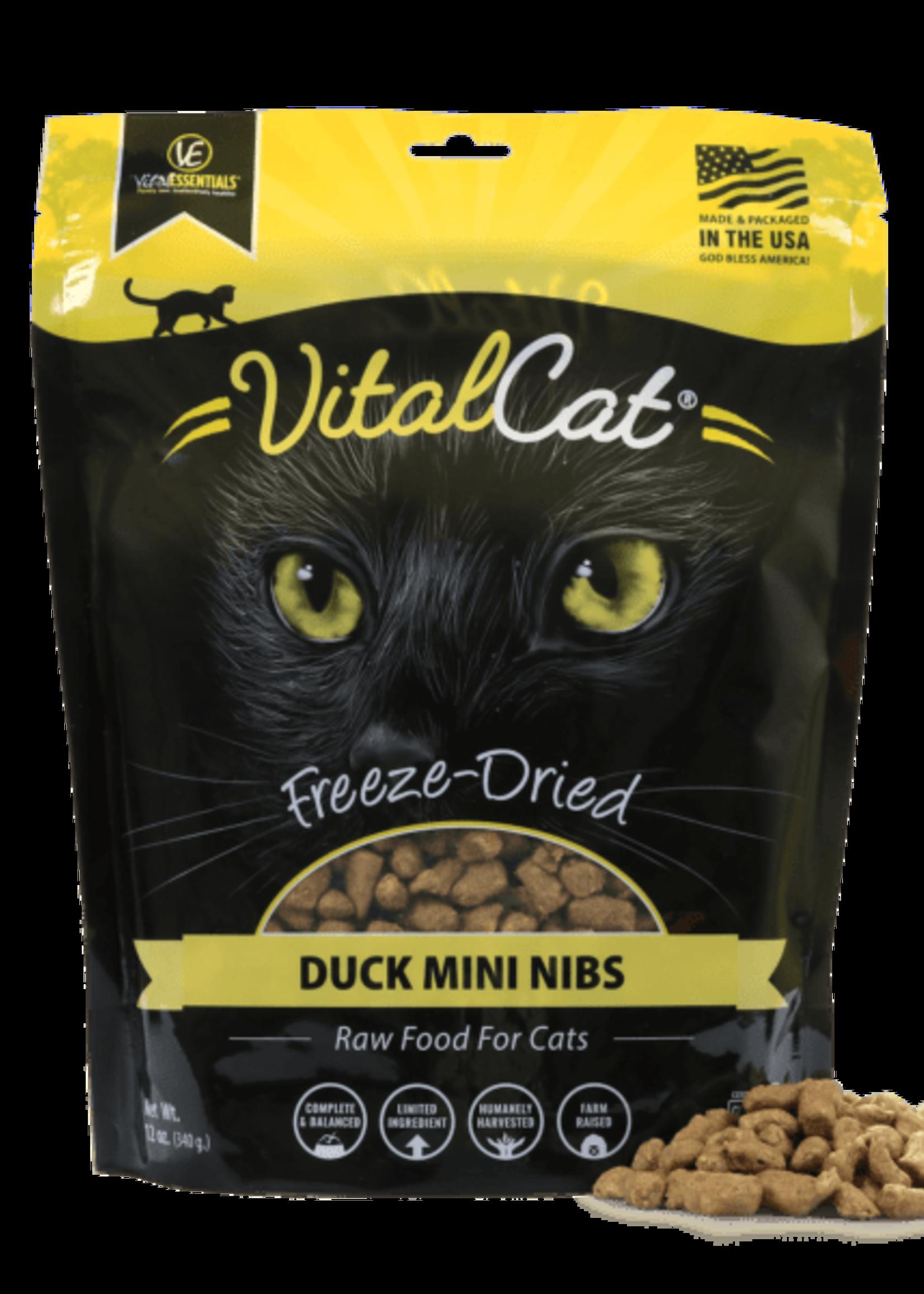 Vital Essentials Vital Cat Freeze Dried Duck Mini Nibs 12 oz