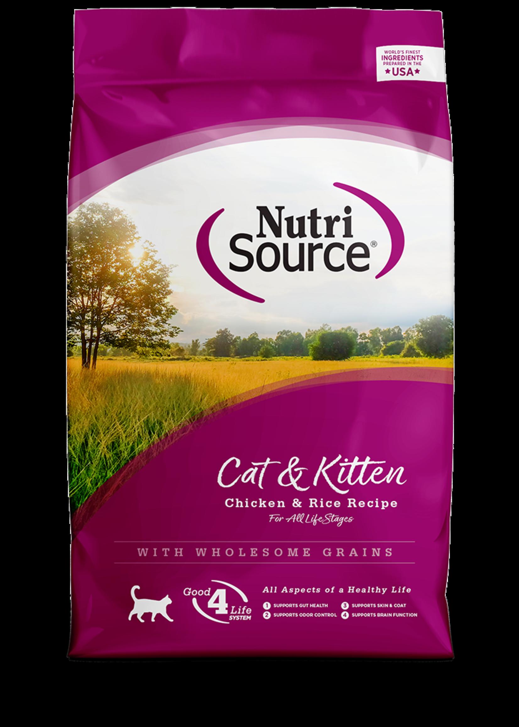 Nutrisource Nutrisource Cat & Kitten Chicken & Rice 6.6 lb