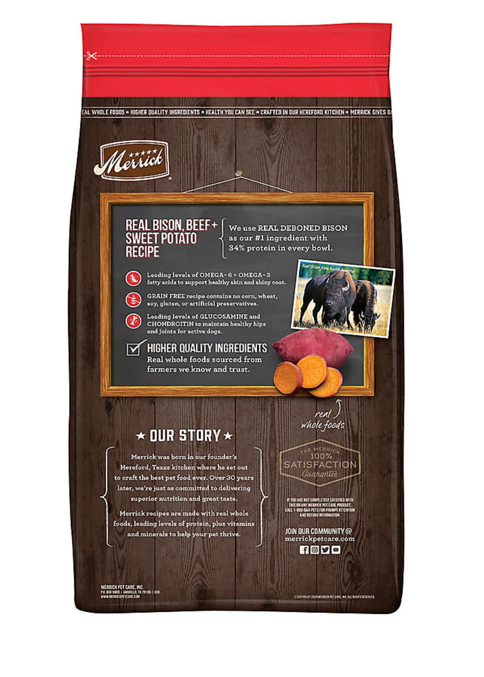 Merrick Merrick Grain-Free Bison & Beef 22lbs