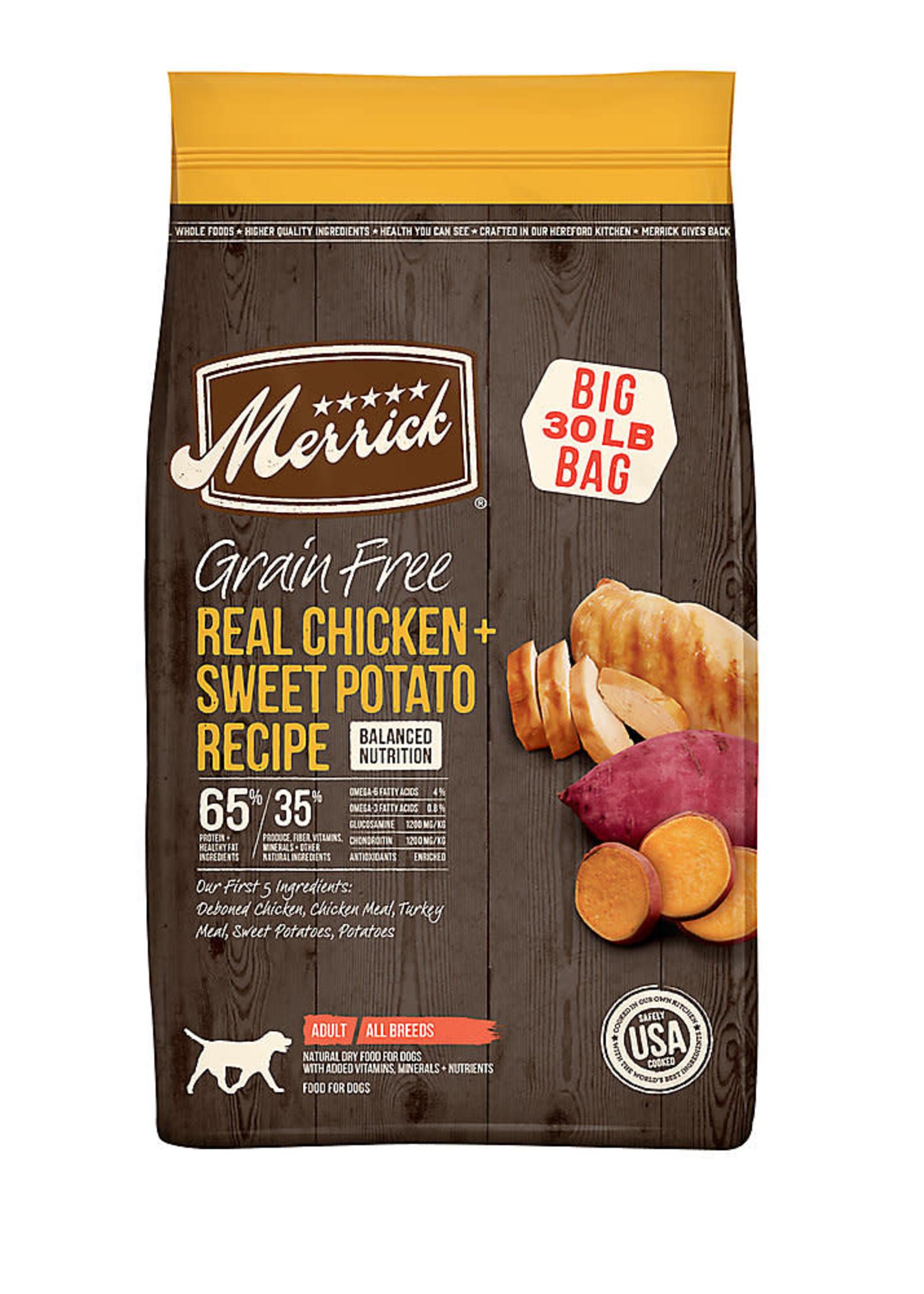 Merrick Merrick Grain-Free Chicken & Sweet Potato 22lbs