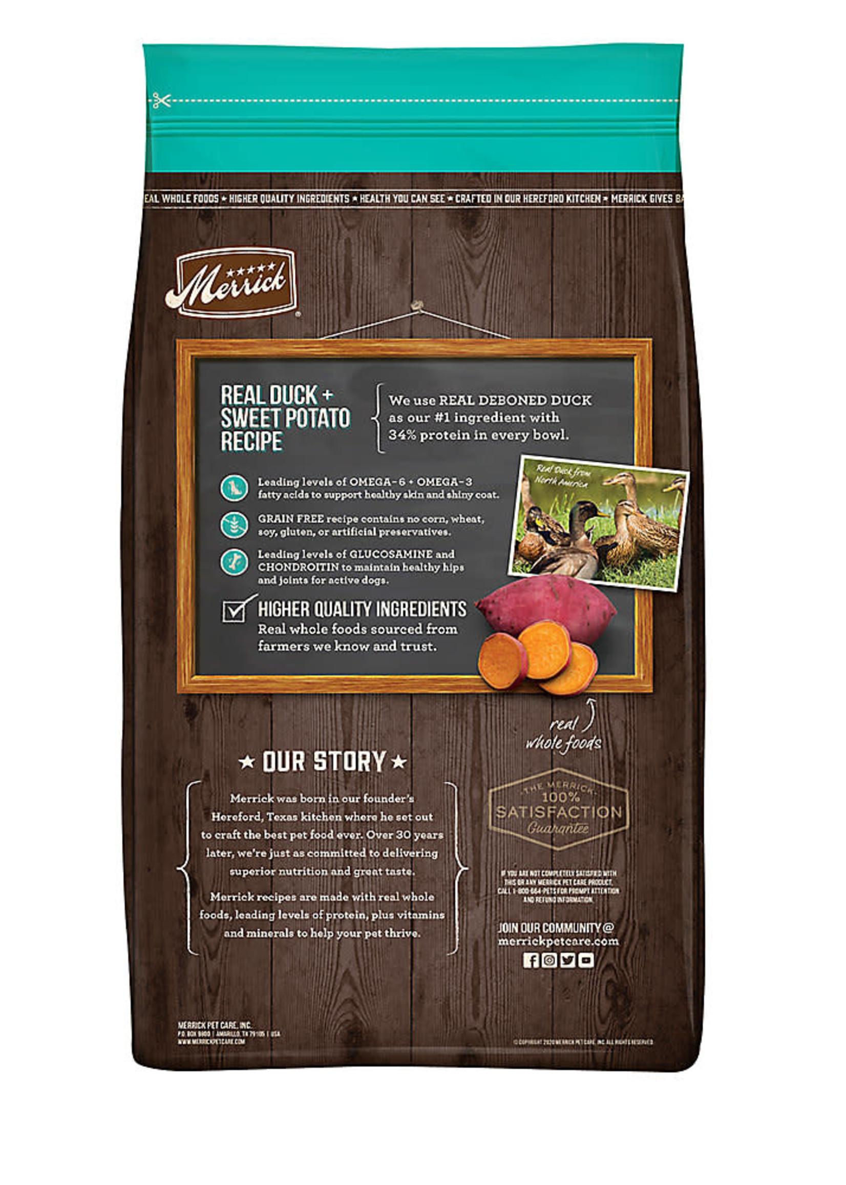 Merrick Merrick Grain-Free Duck & Sweet Potato 22lbs