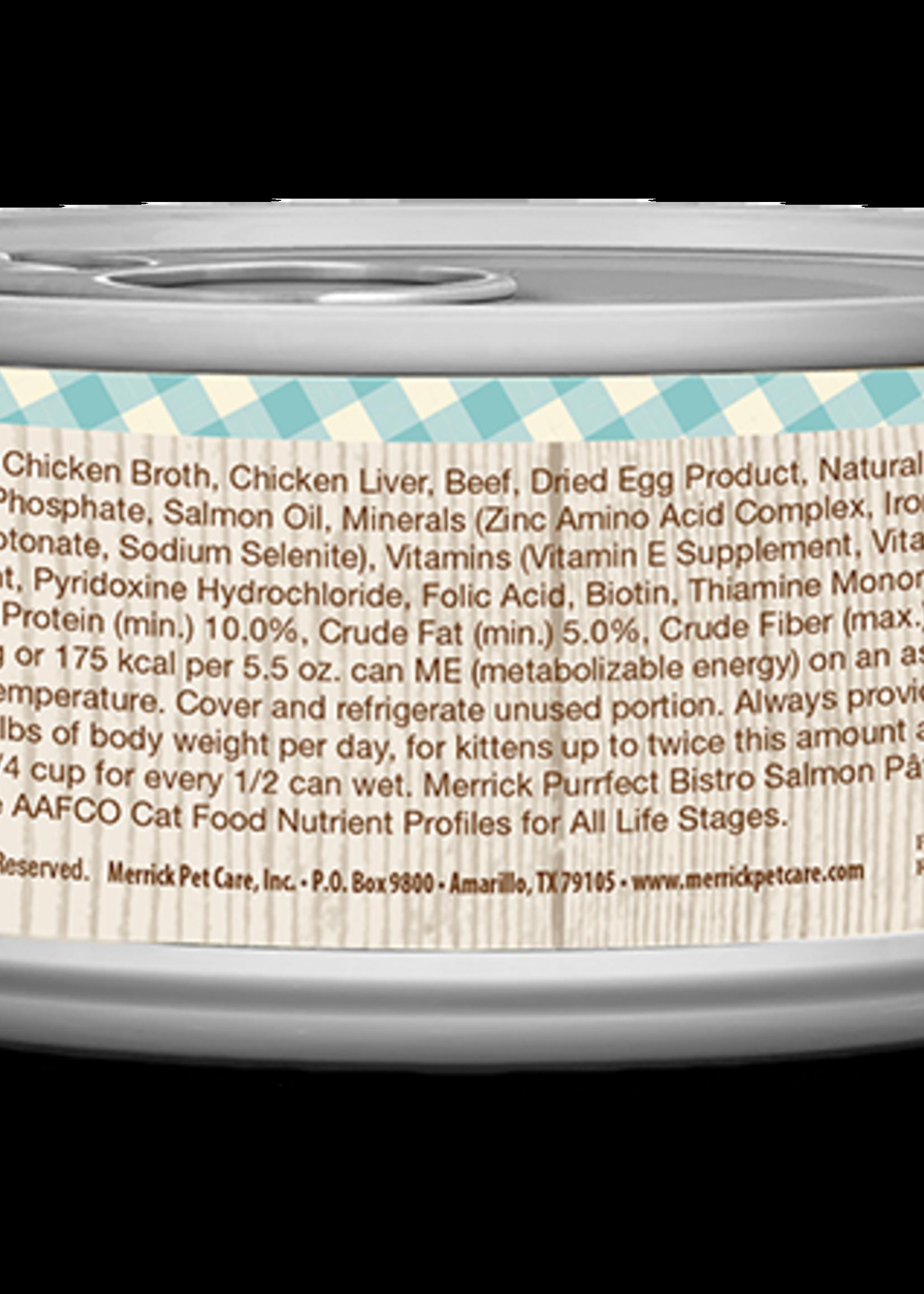 Merrick Merrick Purrfect Bistro Salmon Pate 5.5oz