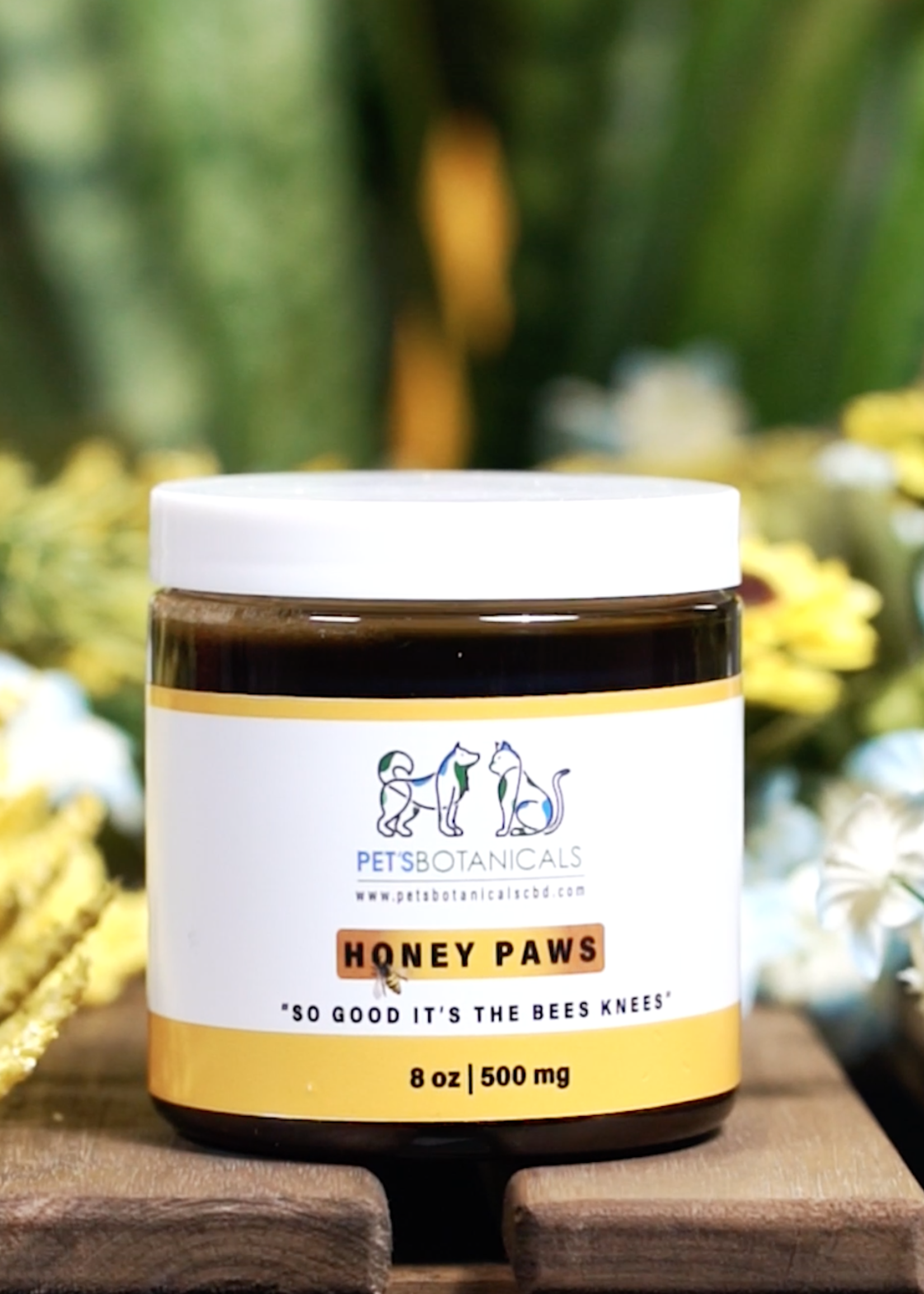 Pet's Botanicals Pet's Botanicals Honey Paws 8 oz 500mg CBD