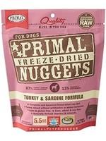 Primal Primal Dog Freeze Dried Turkey & Sardine Nugget 5.5 oz.