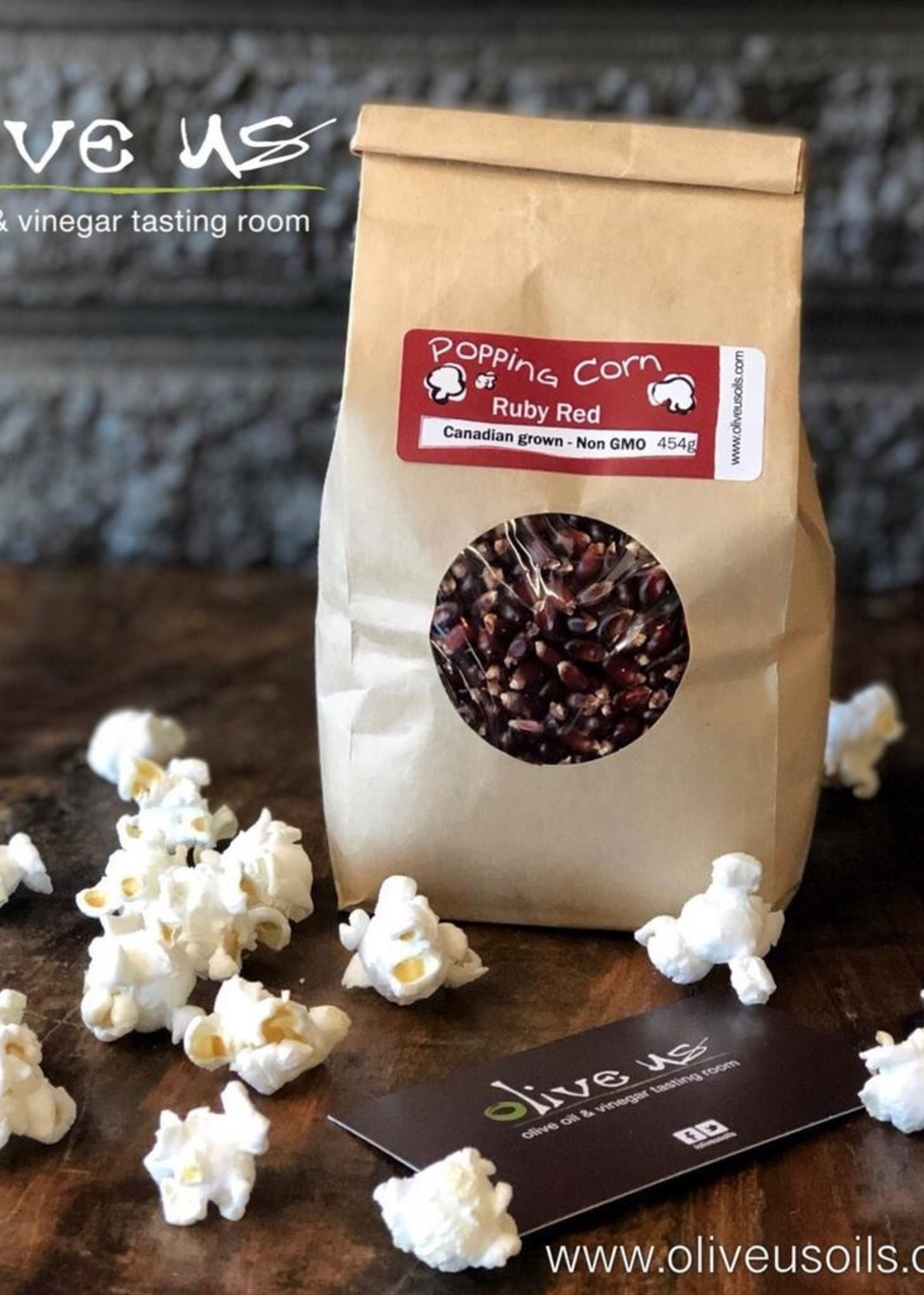Olive Us Ruby Red Popping Corn 454g