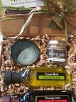 Olive Us Pinch Of Salt Oil & Vin Gift Set: Tuscan Herb & Pomegranate