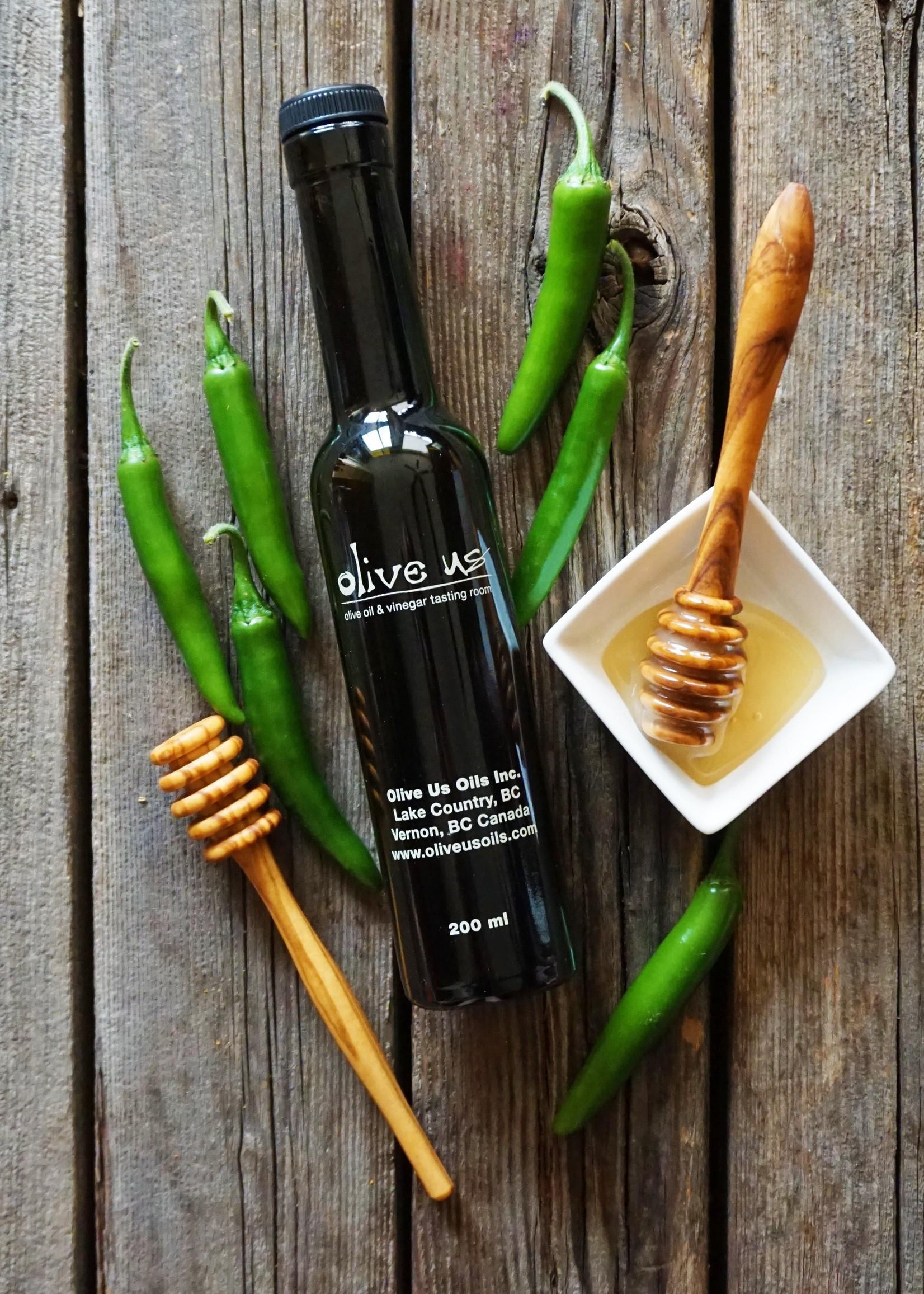 Olive Us Serrano Honey Vinegar *sulfite free*
