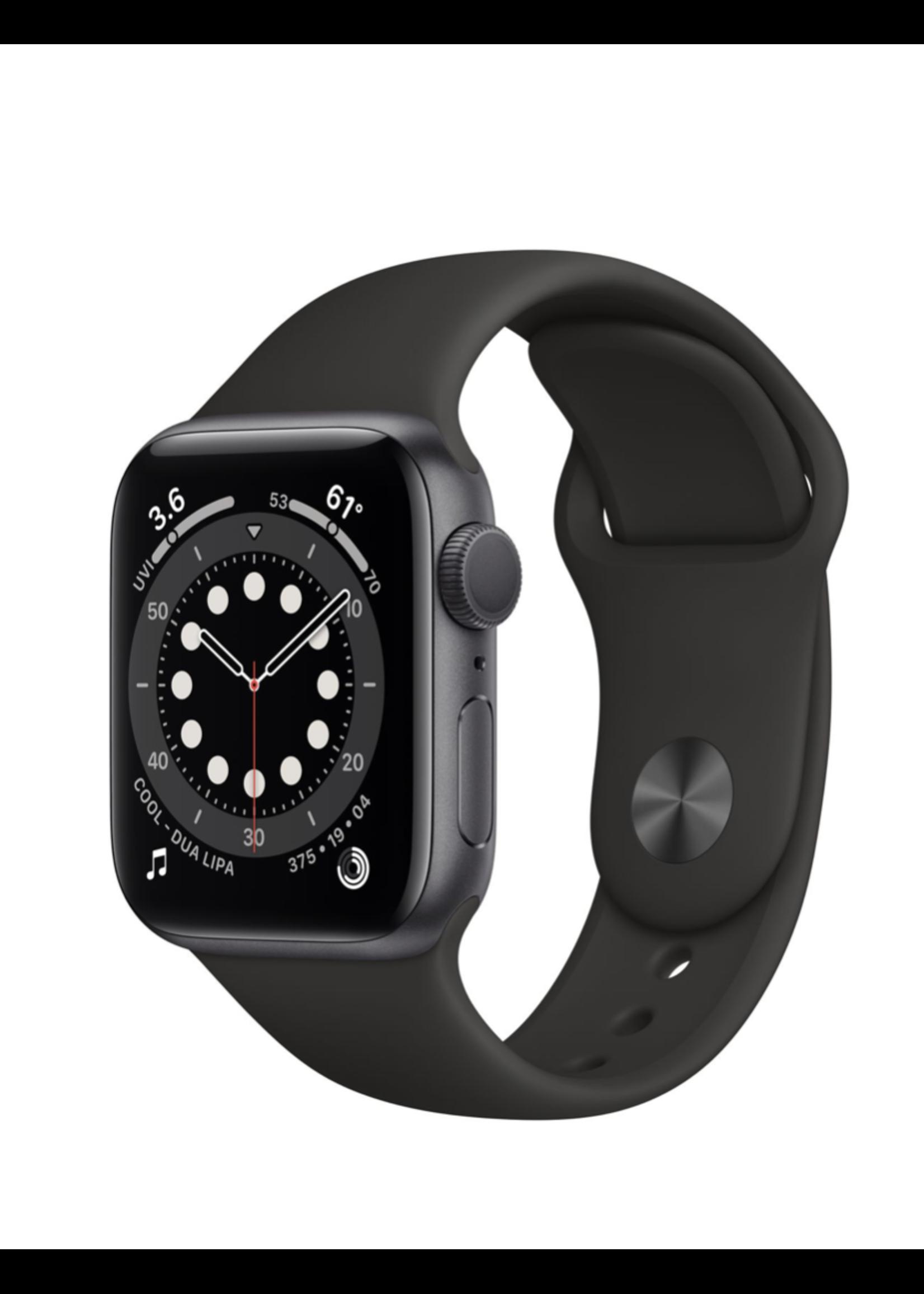 Apple Watch SE 44mm Space Gray Alu Black Sport Band GPS