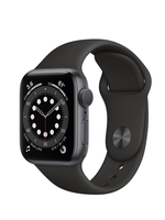Apple Watch Series 6 40 mm Space Gray Alu Black Sport BandGPS