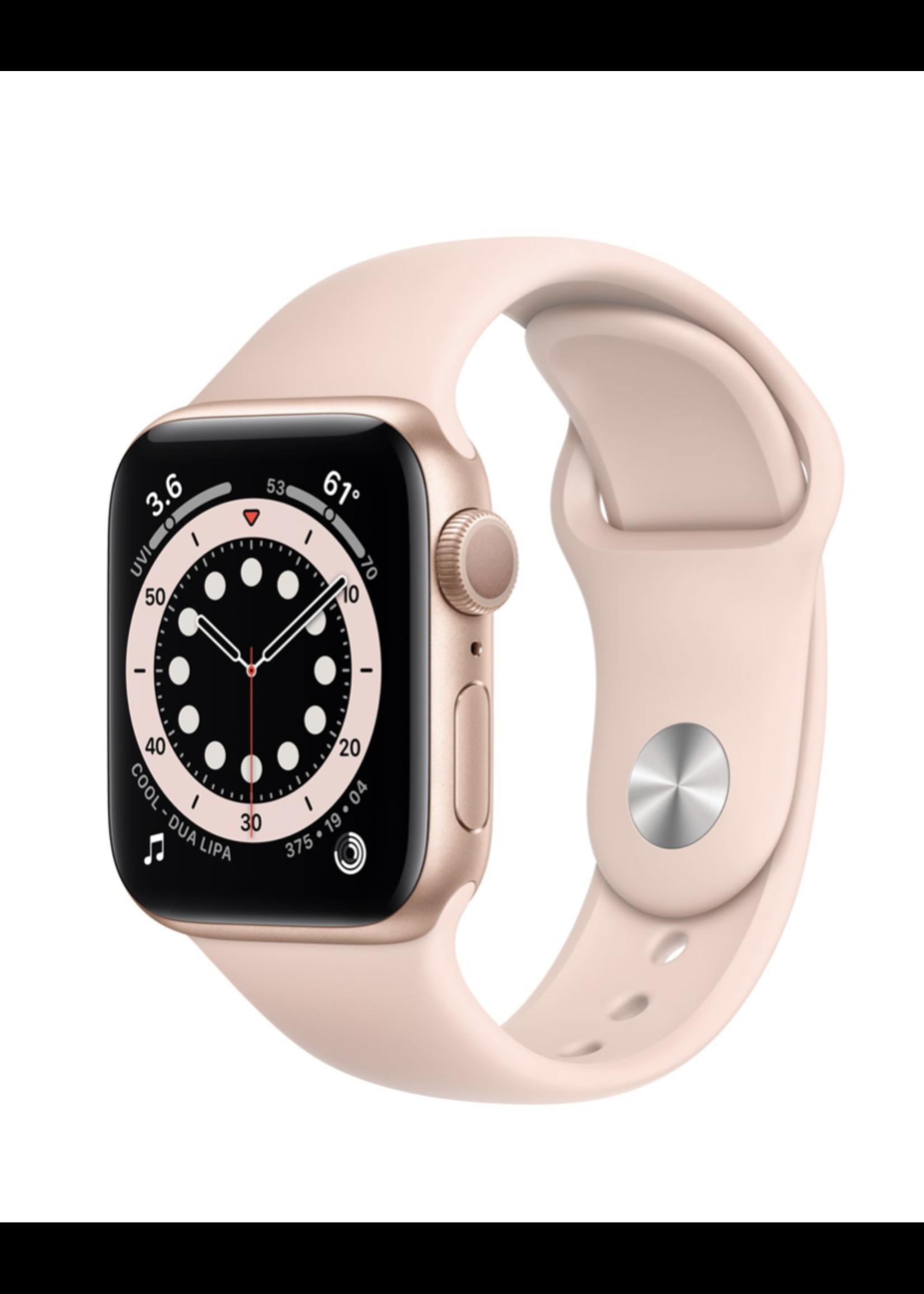 Apple Watch Series 6 40mm Gold Alu Pink Sand Sport Band GPS