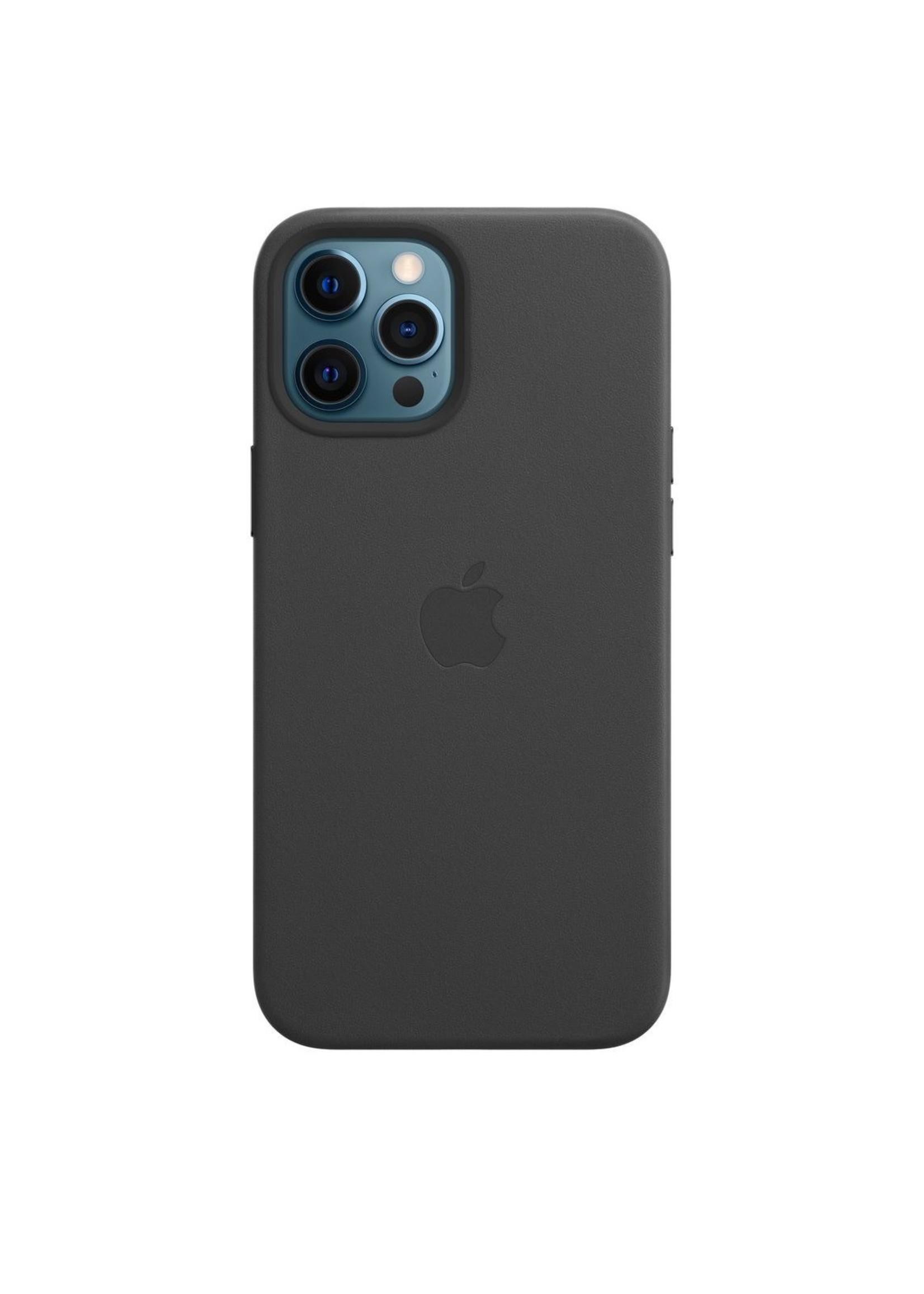 Apple iPhone 12 Pro Max Leather Case Black