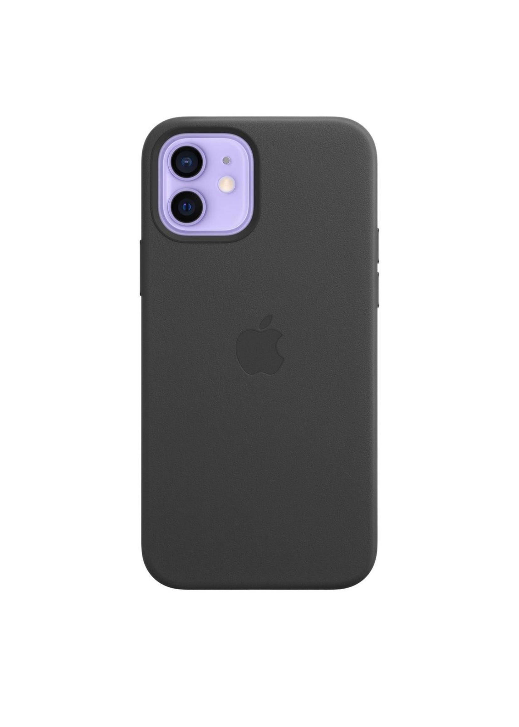 Apple iPhone 12/12 Pro Leather Case Black