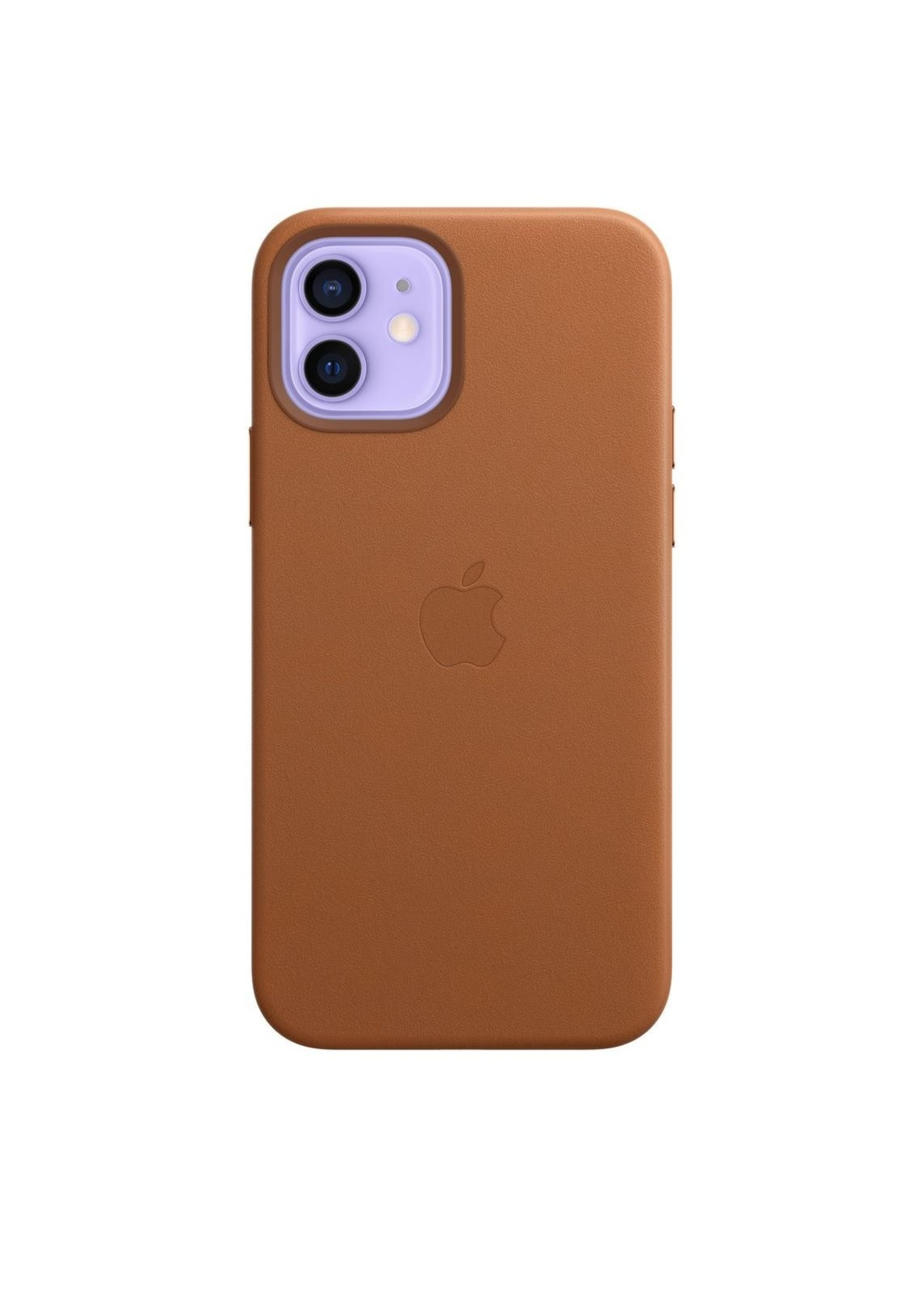 Apple iPhone 12/12 Pro Leather Case Saddle Brown