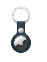 Apple Airtag leather key ring - baltic blue