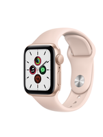 Apple Watch SE 44mm Gold Alu Pink Sand Sport Band