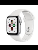 Apple Watch SE 44mm Silver Alu White Sport Band