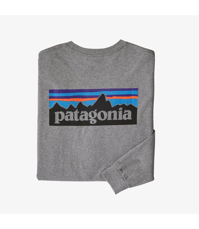Patagonia M's L/S P-6 Logo Responsibili-Tee - P-109544
