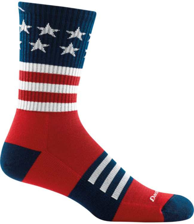 Darn Tough M's Captain Stripe Micro Crew Lightweight Hiking Sock