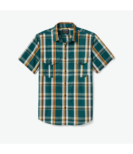 Filson M's Washed S/S Feather Cloth Shirt