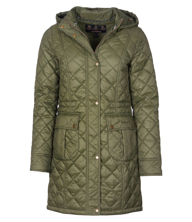 Barbour W's Jenkins Quilted Hooded Parka