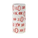 "8"" X 3.75"" XOXO VASE (AD)"