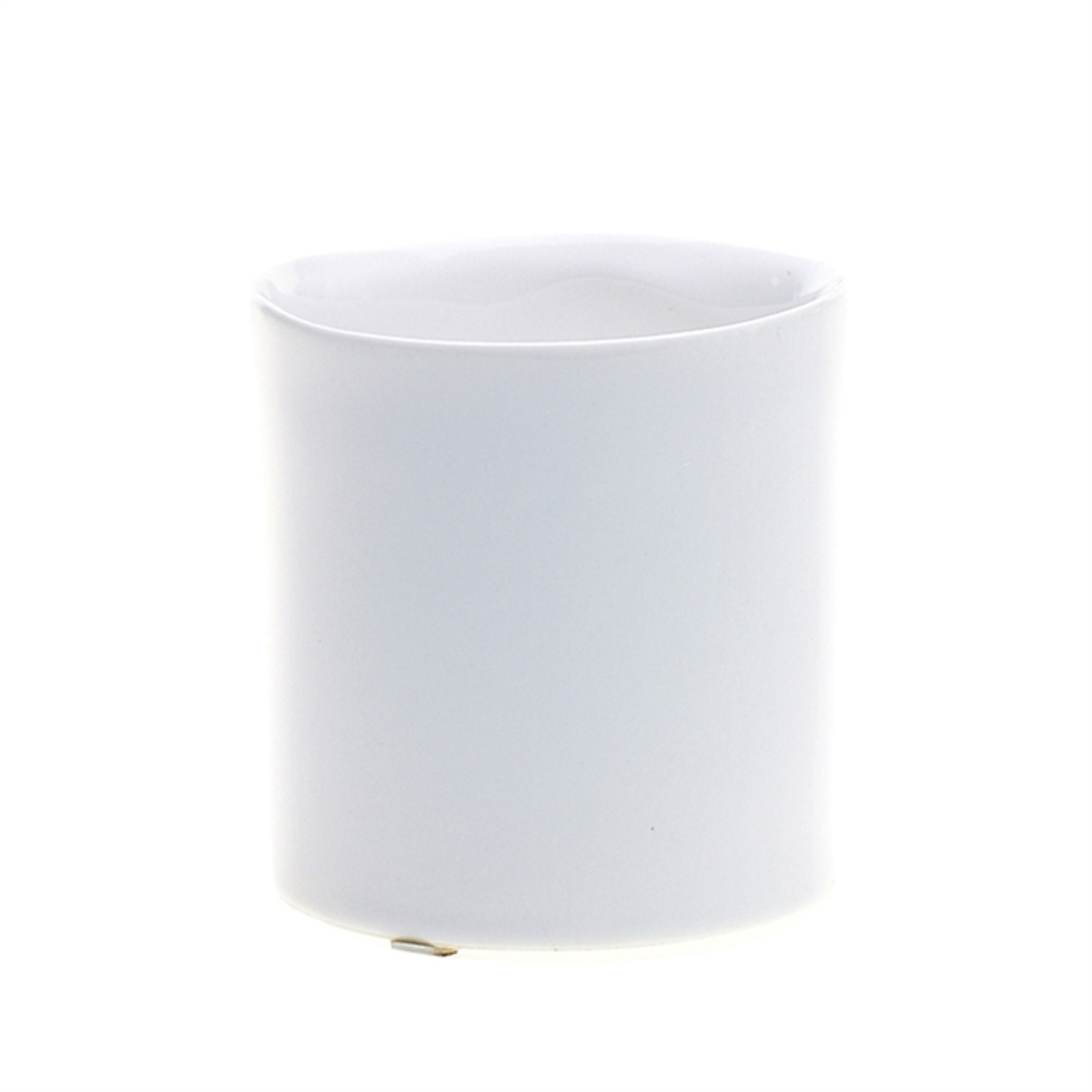 3.25'' x 3.5'' WHITE Brooklyn Vase (AD)