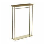 """19.75""""x 5.5""""x 24"""" GOLD BRENTMORE STAND (AD)"""