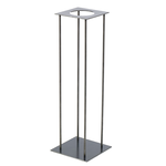 """29.5"""" X8"""" X 8"""" SILVER HARLOW STAND (AD)"""