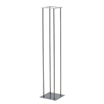 """45"""" X8"""" X 8"""" SILVER HARLOW STAND (AD)"""