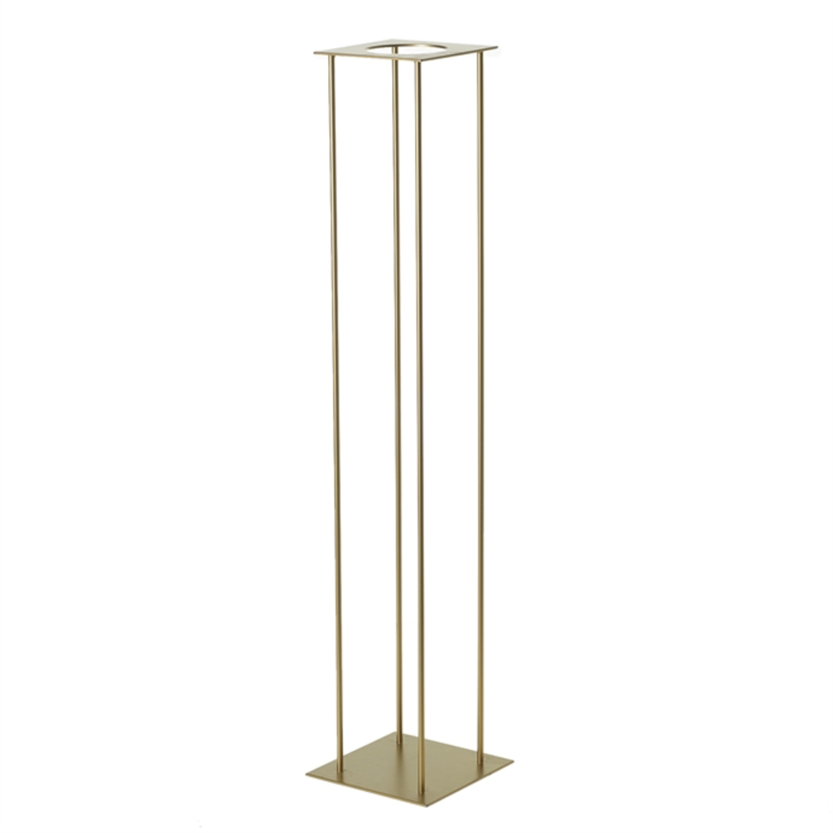 """45"""" X8"""" X 8"""" GOLD HARLOW STAND (AD)"""