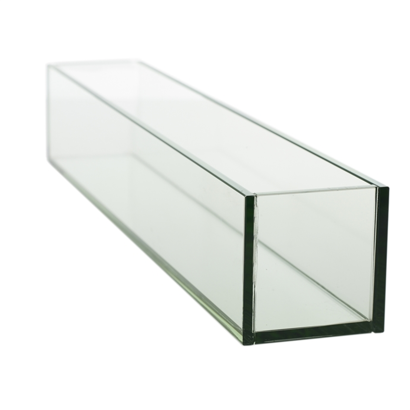 """24""""L x 4"""" x 4"""" LOW RECTANGLE PLATE GLASS PLANTER (AD)"""