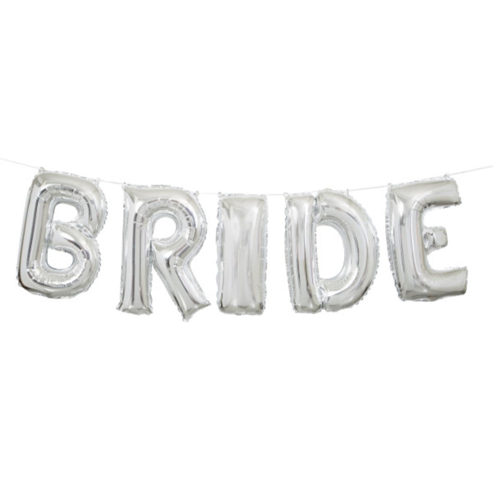 """14"""" SLVR BRIDE LTR BLN BNR KIT"""