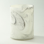 """H:8"""""""" D:6"""""""" MARBLE LIKE GLASS CYLINDER"""
