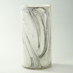 """H:12"""""""" D:6"""""""" MARBLE LIKE GLASS CYLINDER"""