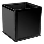 6X6X6 DESIGNER BLACK CUBE