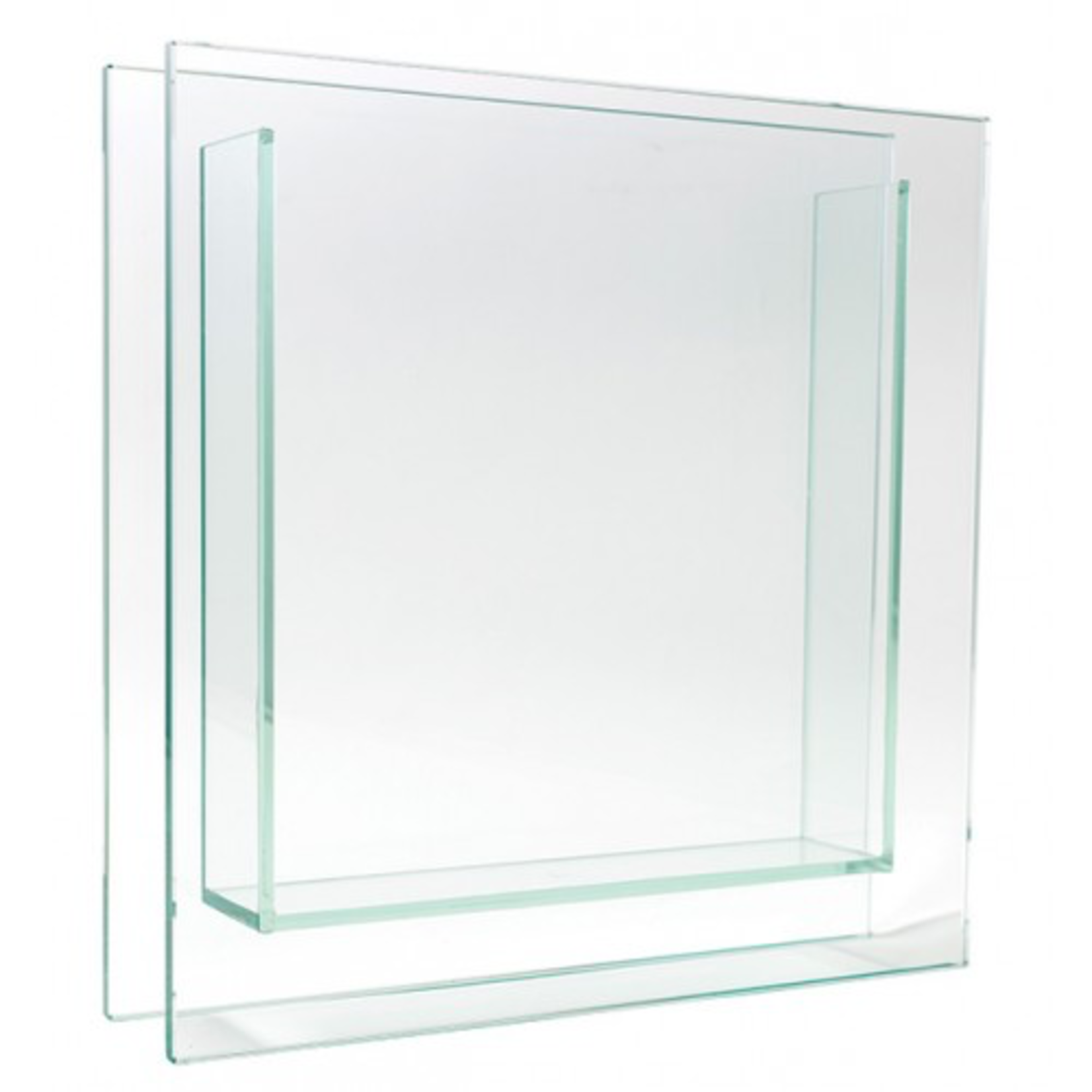 """12""""H X 2"""" X 12"""" SQUARE PLATE GLASS"""