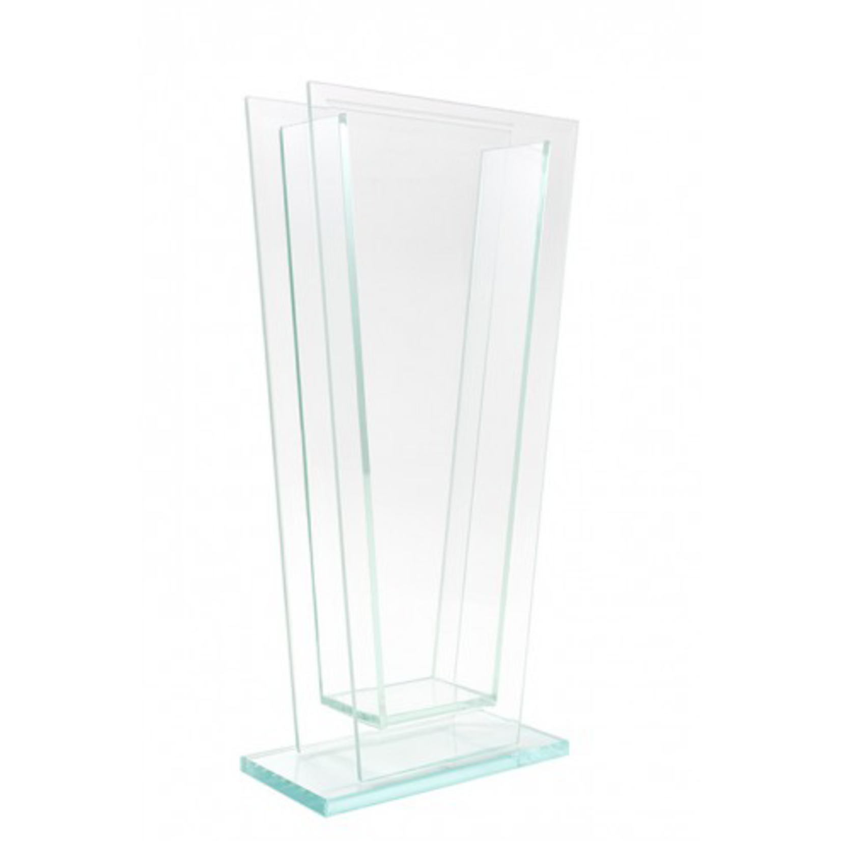 """14""""H X 2"""" X 5"""" TAPERED PLATE GLASS"""