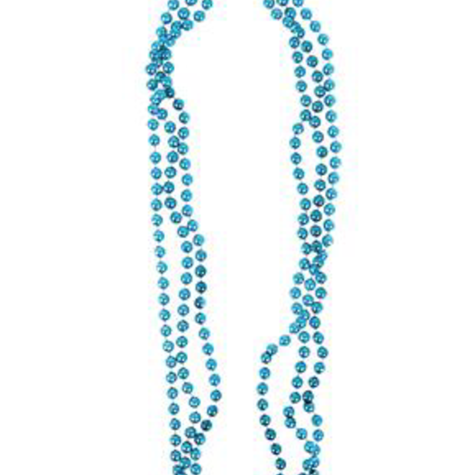 """33"""""""" 7 MM TEAL BEADED NECKLACE (PACK OF 12)"""