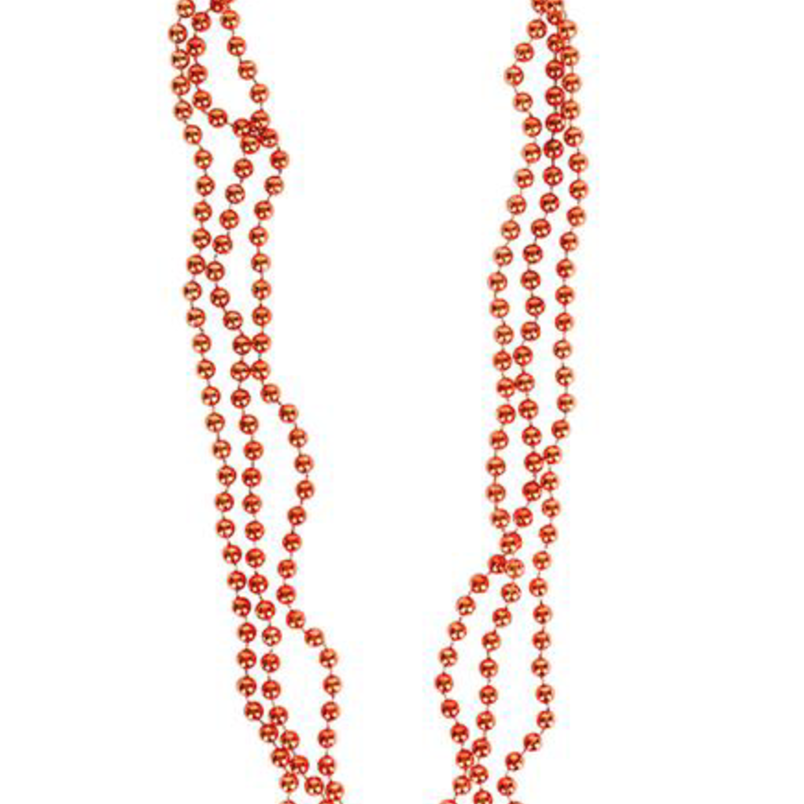 """33"""""""" 7 MM ORANGE BEADED NECKLACE (PACK OF 12)"""