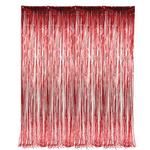 36'' X 96'' RED FOIL FRINGE CURTAIN