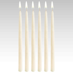 Taper Candles (Cello Wrapped) 12 INCH  IVORY