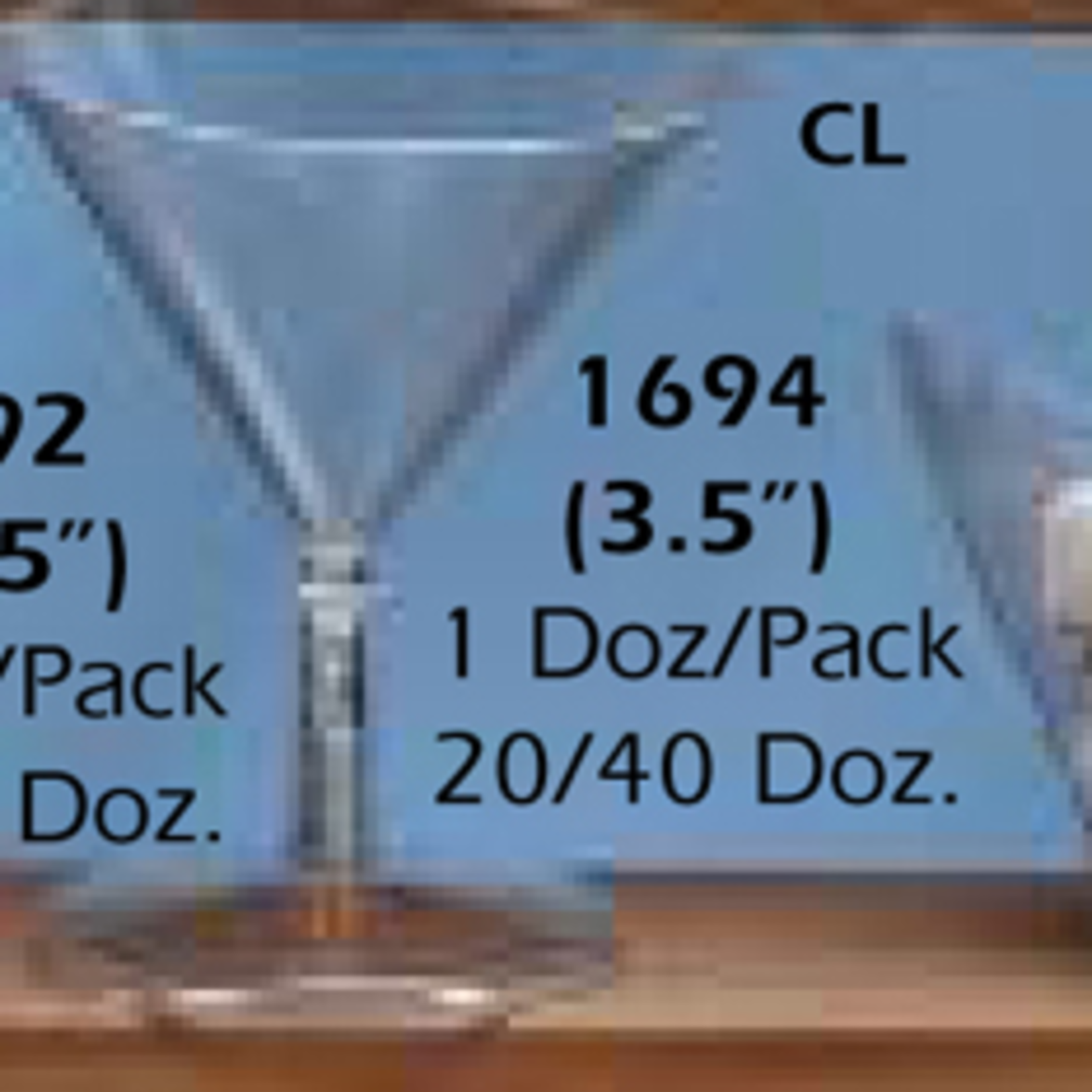 "3.5"""" PLASTIC MARTINI GLASS, 1 DOZ/PACK"